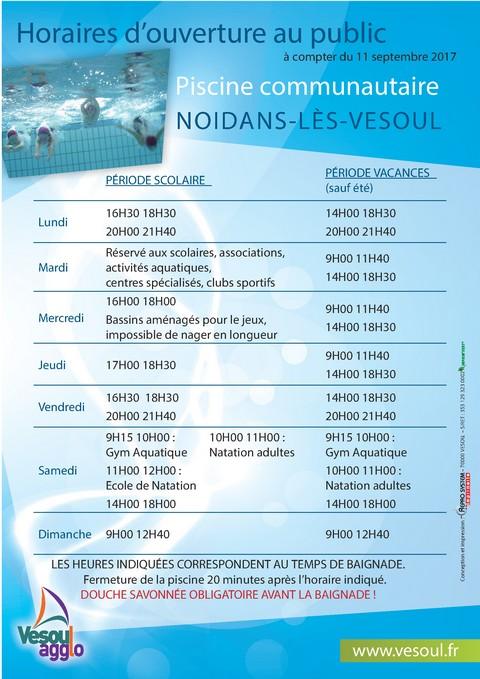 Horaires piscine - Horaires piscine reims thiolettes ...