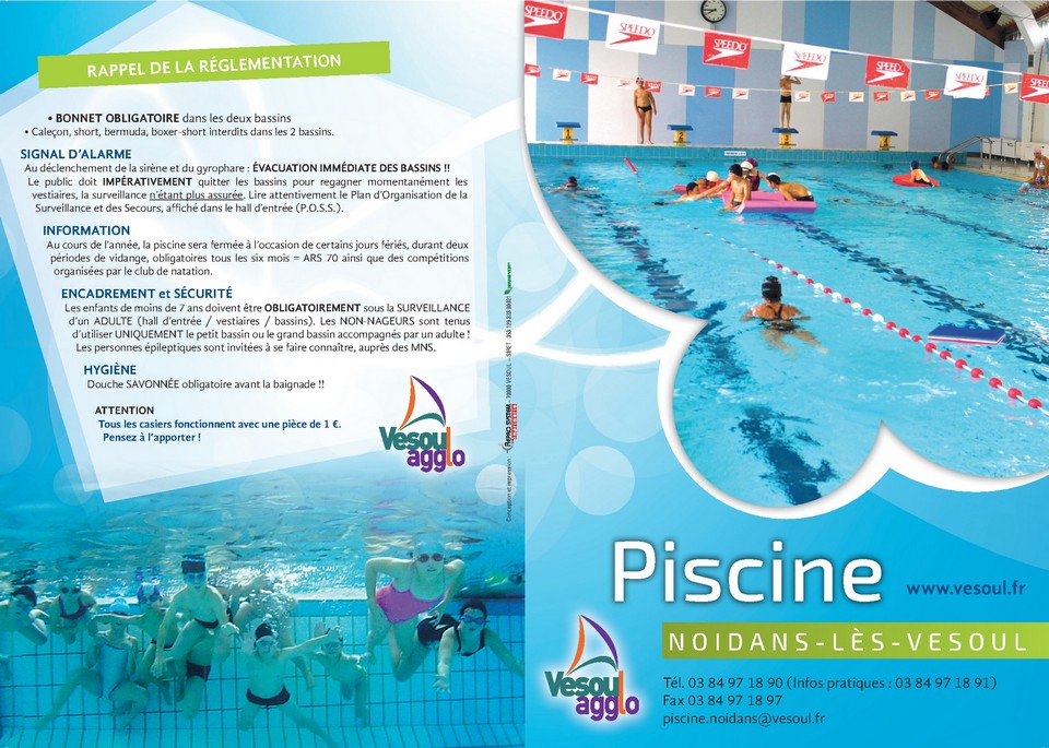 Horaires piscine for Piscine briancon horaire